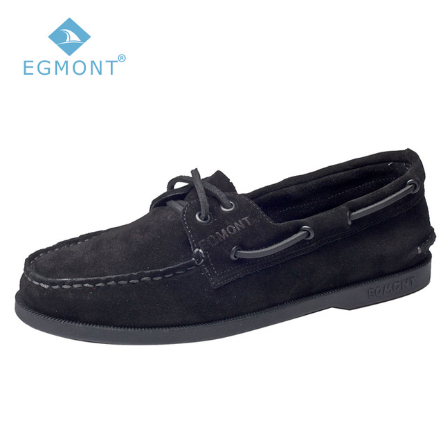 fbb347b3f12 Egmont EG-52 negro Primavera Verano barco zapatos casuales para hombre  mocasines cuero genuino hecho