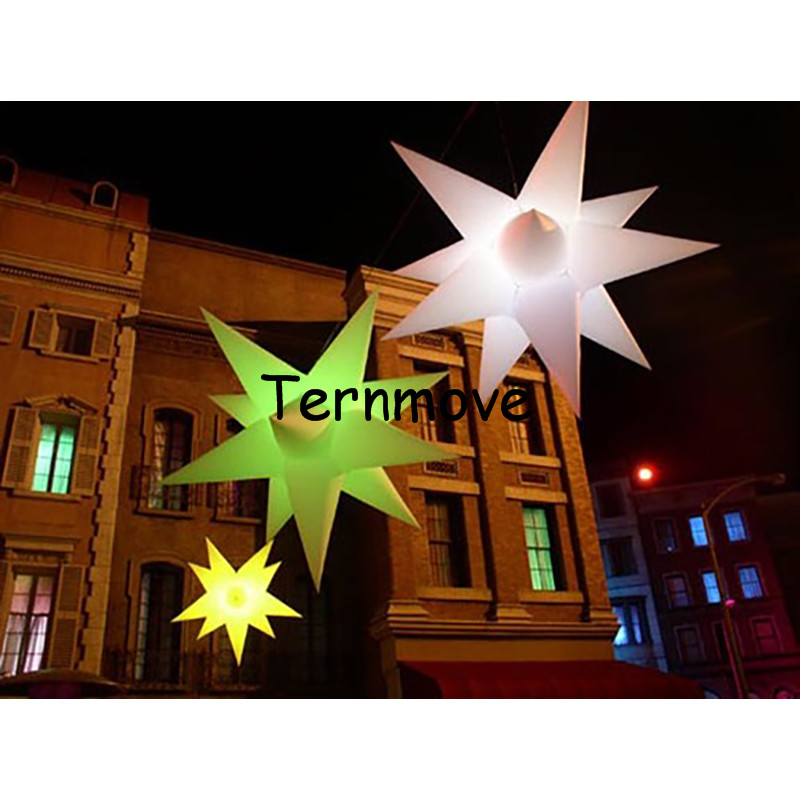 Lighting sky stars, hall decoration balloon,LED lighting for wedding LED lighted inflatable star for decoration wedding inflatabe star inflatable lighted stars for party decoration