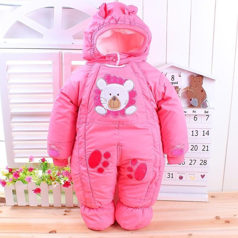Autumn & Winter Newborn Infant Baby Clothes Fleece Animal Style Clothing Romper Baby Clothes Cotton-padded Overalls CL0437 (3)