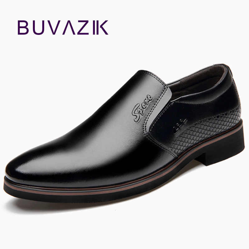 BUVAZIK Men Dress Shoes Leather Business Wedding Shoes Pointed Toe Formal Shoes Men Leather Fashion Italian Office Shoes Men