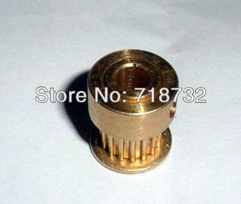25 teeth MXL brass timing pulley 10mm width 6.35mm bore 10pcs