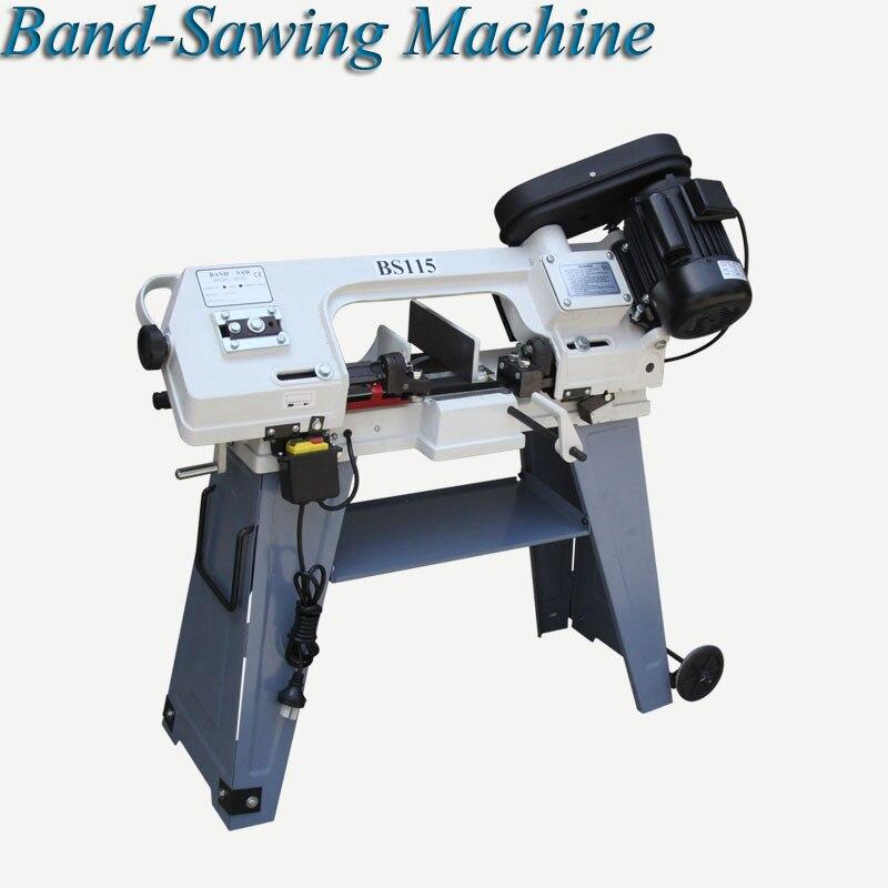 Scie à ruban Machine à scier le métal multifonctionnel bois électrique de bureau horizontale verticale scie à ruban BS115