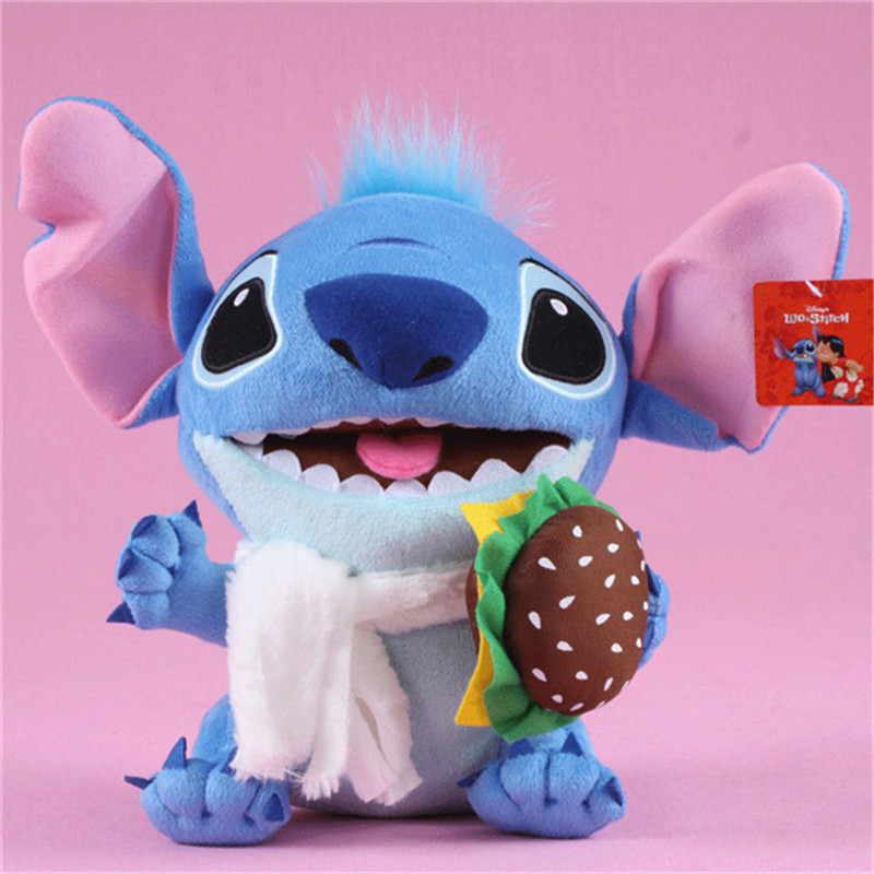 Kawaii Anime Stitch Plush Toys Big Lilo and Stitch Stich Stuffed Dolls Blue Stitchs Kids Birthday Christmas Gift 30cm  (2)