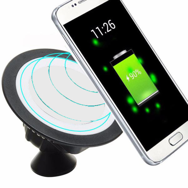 Qi Wireless Charger Dock 360 Rotating Mount Car Holder Charging Pad Smartphone Charger For Lg Nexus 4/5/6 Htc 820 Lumia920 Lg G3 smartphone