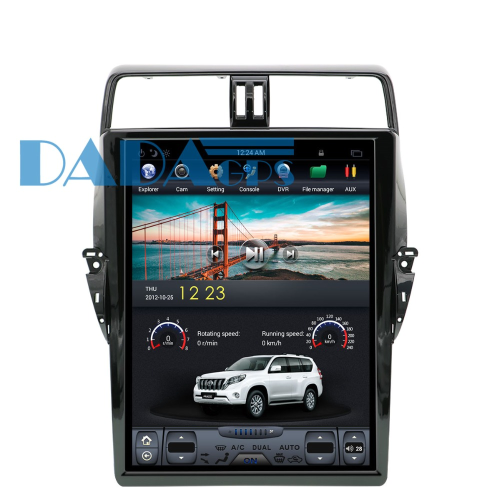 17 inch Tesla style Android6.0 Car DVD player GPS navigation for <font><b>TOYOTA</b></font> Land Cruiser Prado <font><b>150</b></font> <font><b>2018</b></font> Car GPS Navigation Head Unit image