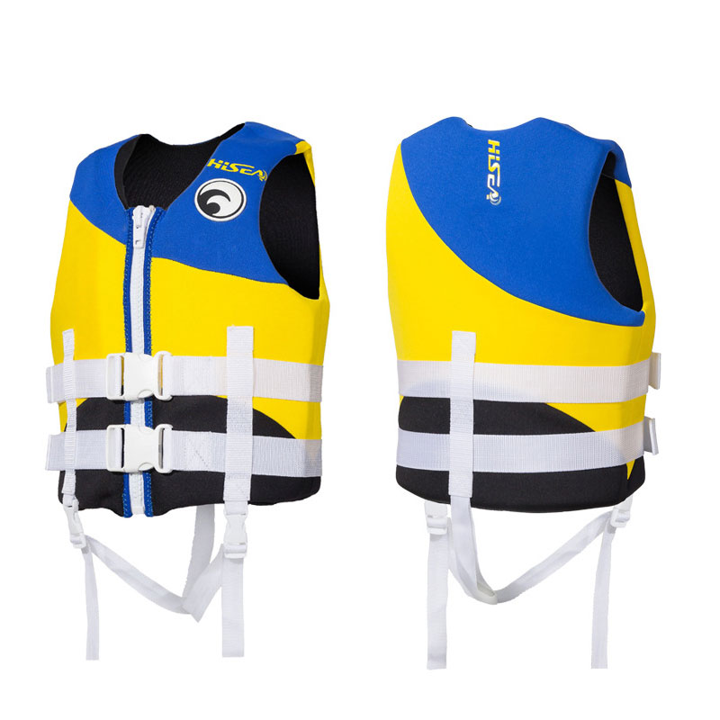 2018 Kids Life Jacket Neoprene Foam Swim Vest Child Surfing Life Vest Girls Boys Swimwear Drifting Jacket Youth Yellow Black Special Summer Sale