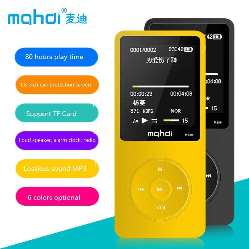 Mahdi MP4 odtwarzacz 8 GB 24 języki rosyjski 80 godzin czas odtwarzania muzyki odtwarzacz wideo TF głośnik Alarm zegar + słuchawki opaska na ramię