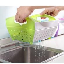 Креативная складная пластиковая корзина для воды, кухонная корзина для белья, для мытья фруктов и овощей, чтобы повесить капельную корзину. Дренажная Химчистка