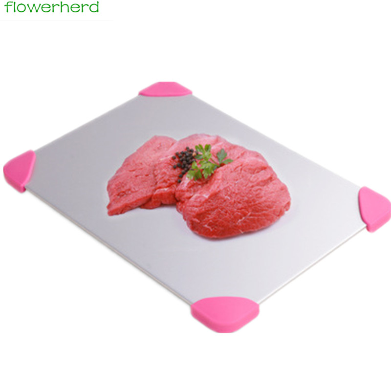 Aluminum Fast Defrosting Tray Defrost Meat or Frozen Food Quickly Without Electricity Mi ...