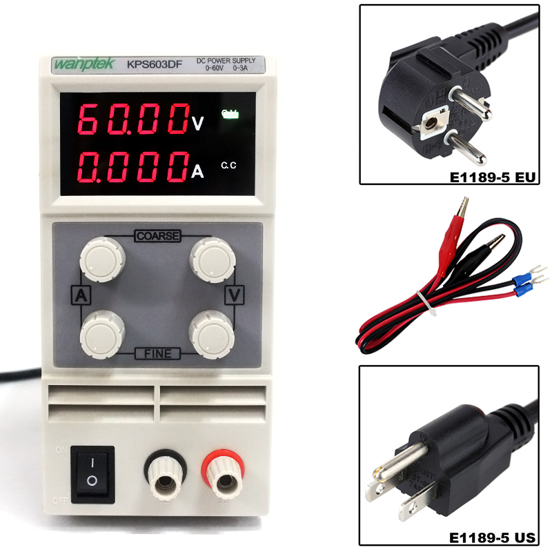 KPS603DF 0-60V/0-3A 110V-220V 0.01V/0.001A Adjustable Digital Mini DC power supply mA display cps 6011 60v 11a digital adjustable dc power supply laboratory power supply cps6011
