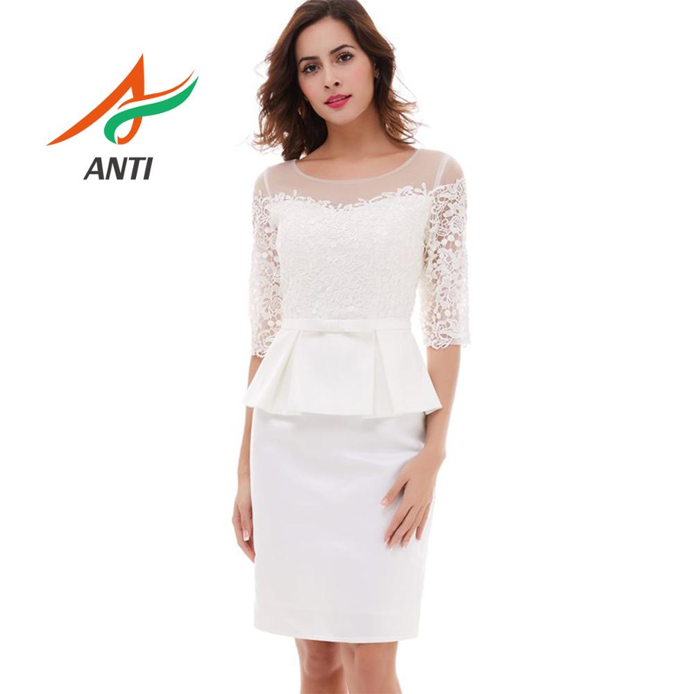 ANTI Elegant Pure White 2 Pieces Mother Of The Bride Dress With Half-Sleeve Vestido De Madrinha Mutter Der Braut Gowns For Women