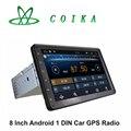 8 Дюймов Емкостный Экран Pure Android 1 Автомобиля ГАМА Радио Головное устройство GPS WIFI 3 Г OBD DVR Google Играть Зеркало Экрана 1080 P Quad Core