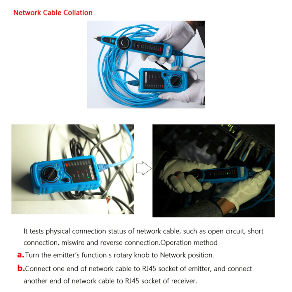 High Quality Rj11 Rj45 Cat5 Cat6 Telephone Wire Tracker Tracer Toner Phone Wiring Ethernet Lan Network Cable Tester Detector Line Finder In Networking Tools From