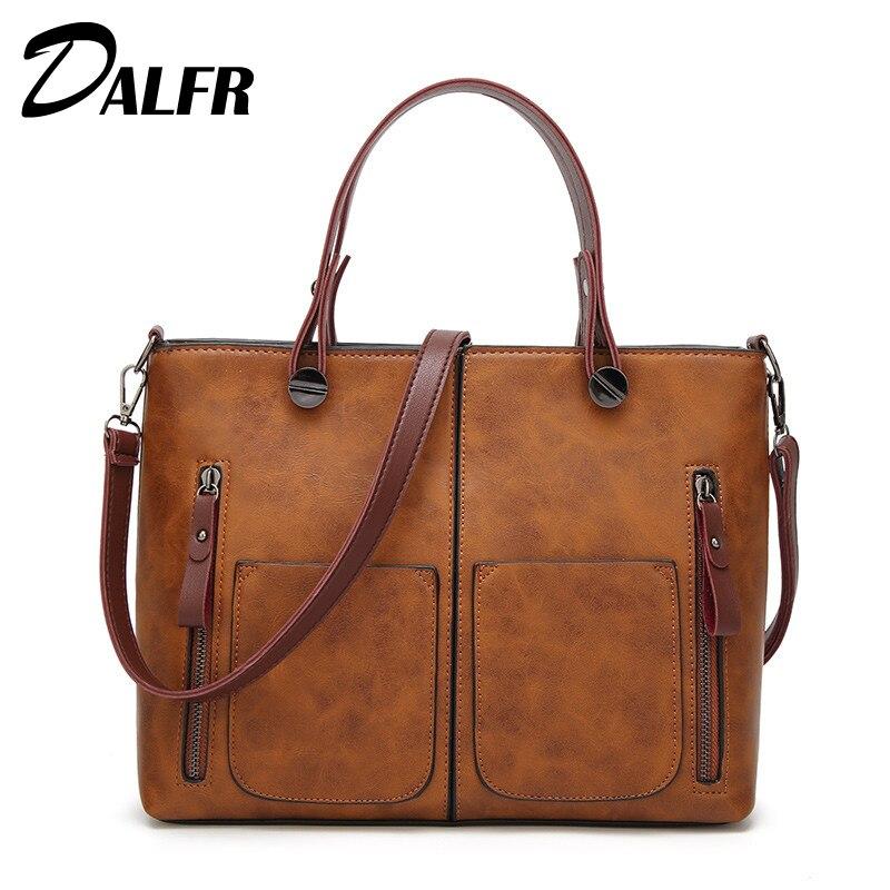 DALFR Women Shoulder Bag Designer Leather Handbags Famous Brand Women Tote Bags 2017 Women Crossbody Bag