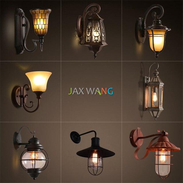 American Vintage Lampada Da Parete In Ferro Retrò/vetro applique da ...