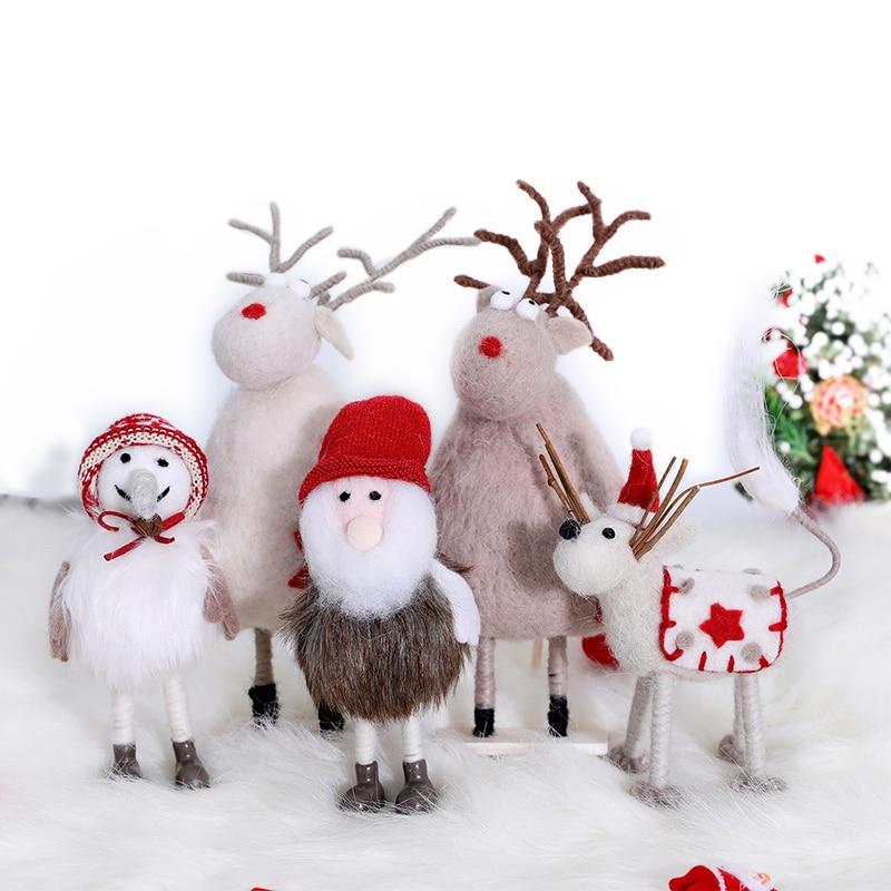 26 см Кукла рождественские игрушки для детей Рождественская фигурка сцена украшения орнамент Рождественский подарок Рождественский лось о...