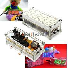 DIY Kit Красный светодиод Электронные часы микроконтроллер цифровые часы Время термометр