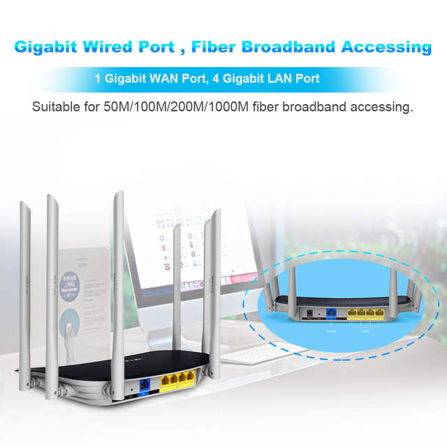 US $42 98 41% OFF|TP LINK WDR7400 Wireless Wifi Router Wi Fi Repeater  2 4Ghz&5Ghz 802 11ac 2033Mbps TP Link TL WDR7400 Soho Router With 6  Antenna-in