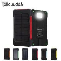 Tollcuudda Solar Power Bank 10000 mah Handy Externe Power Ladegerät Für Iphone Batterie Bewegliche Bateria Externa