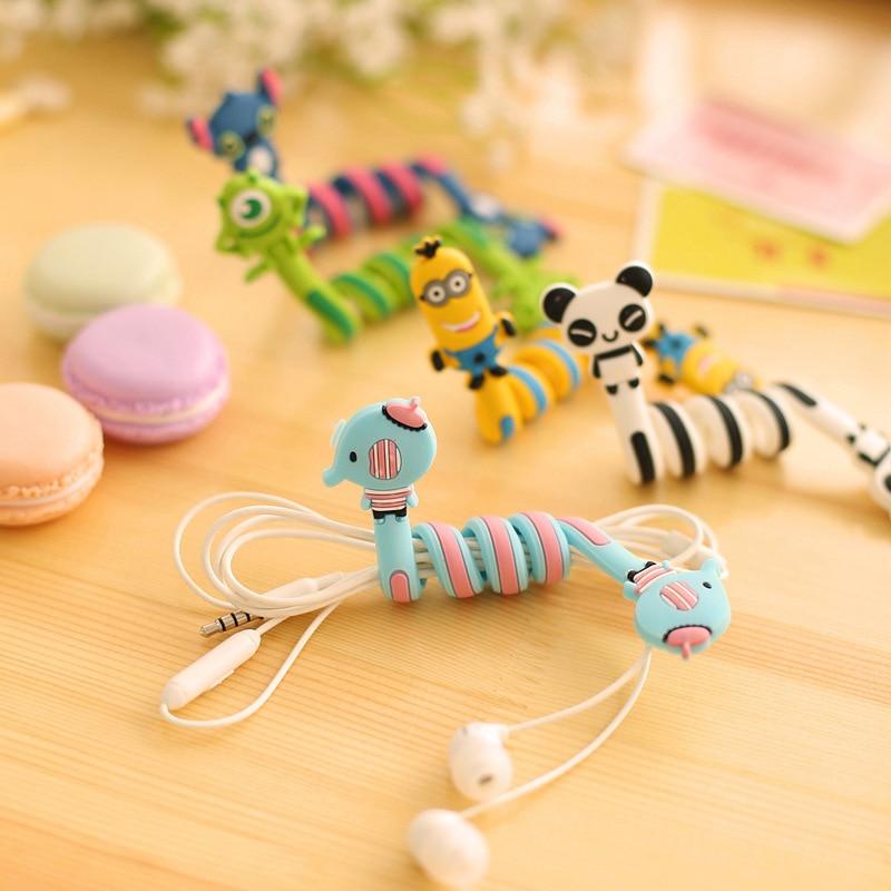Cartoon Stitch Panda font b Cable b font font b Winder b font Protector Wire Cord