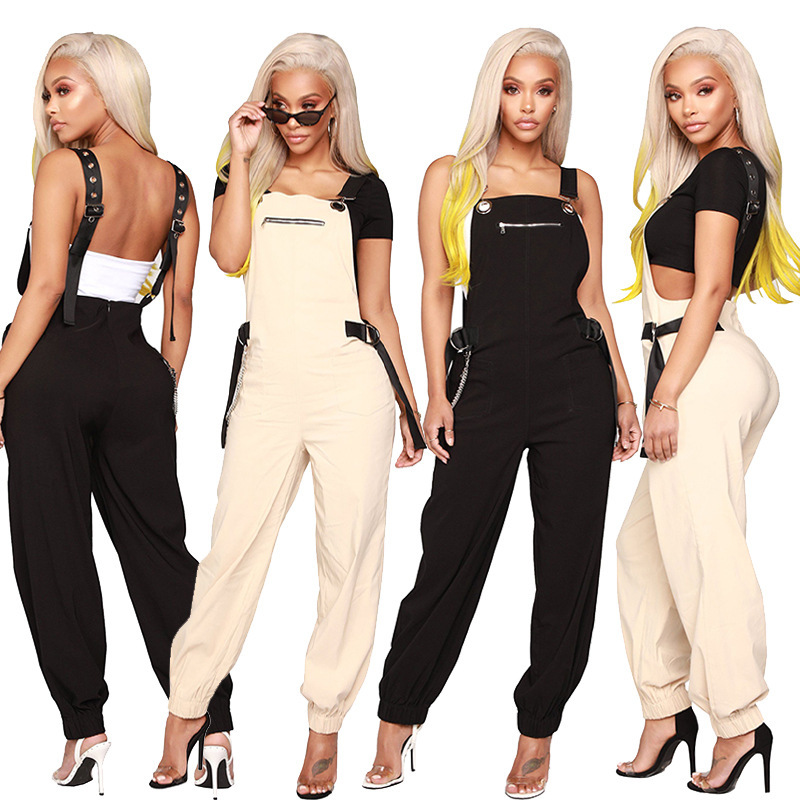 2019 Streetwear Cargo   Pants   Women Casual Joggers Black High Waist Loose Female Trousers Korean Style Ladies   Pants     Capri   L189