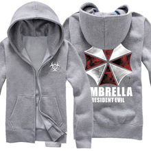 Resident Evil Cosplay Costume Hooded Jacket Coat Umbrella Unisex Hoodies Sweatshirt