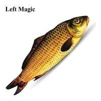 Появляющаяся рыба (28 см), волшебные трюки, рыба, появляющаяся из карточного футляра, волшебник, сценические иллюзии, мерцающий реквизит, мент...