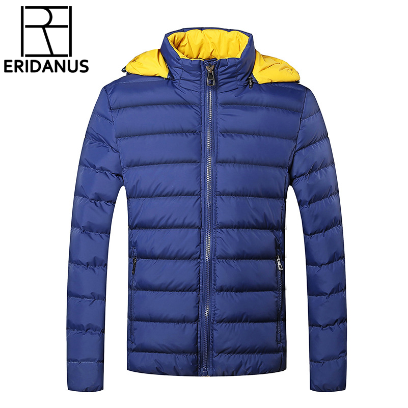 Winter Jackets Mens 2016 Uus stiilne Slim Fit tepitud pikkade - Meeste riided