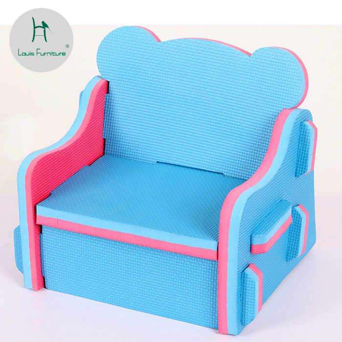 Louis Moda Montagem de Cadeiras Para Crianças Dos Desenhos Animados Do Bebê Fezes Cadeira De Jardim De Infância Simples Moderno