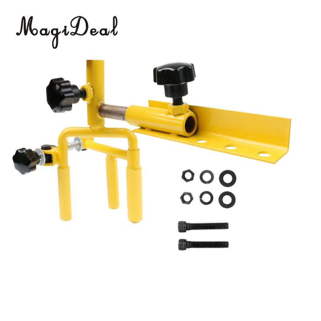 MagiDeal Metal Universal Adjustable Archery Parallel Bow Vise Professional Equipment for Outdoor Hunting Shooting Accessories