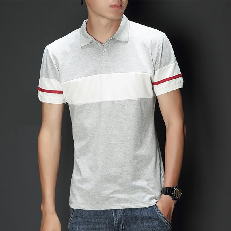 Slim Fit Kurzarm Männer Polo-shirt Sommer Neue Casual Mode Männer Kleidung 2019 Striped Drehen-unten Kragen A121-s13