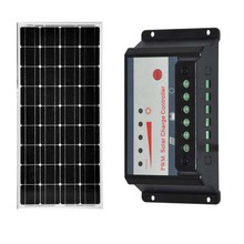 Waterproof Panneau Solaire 100w 12v Solar Charge Controller 12v/24v 30A Rv Motorhome Battery Charger Camping  LED Light