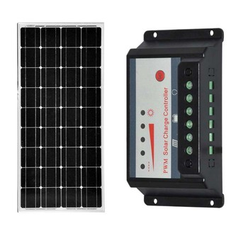 Waterproof Panneau Solaire 100w 12v Solar Charge Controller 12v/24v 30A Rv Motorhome Solar Battery Charger Camping  LED Light