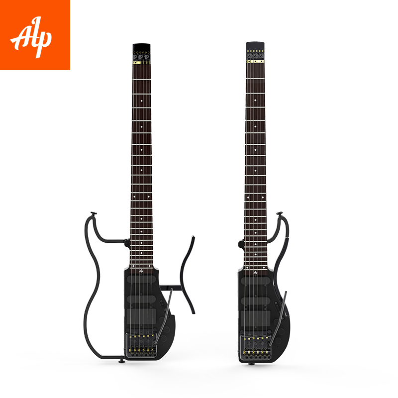alp headless travel electric guitar special ad121 tremolo travel guitar portable guitar in. Black Bedroom Furniture Sets. Home Design Ideas
