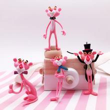 Keychain Vinyl Doll Gift For Women Pink Panther Cartoon Keychain Creative Birthday Key Chain Ring Anime Key ring Lovely цена