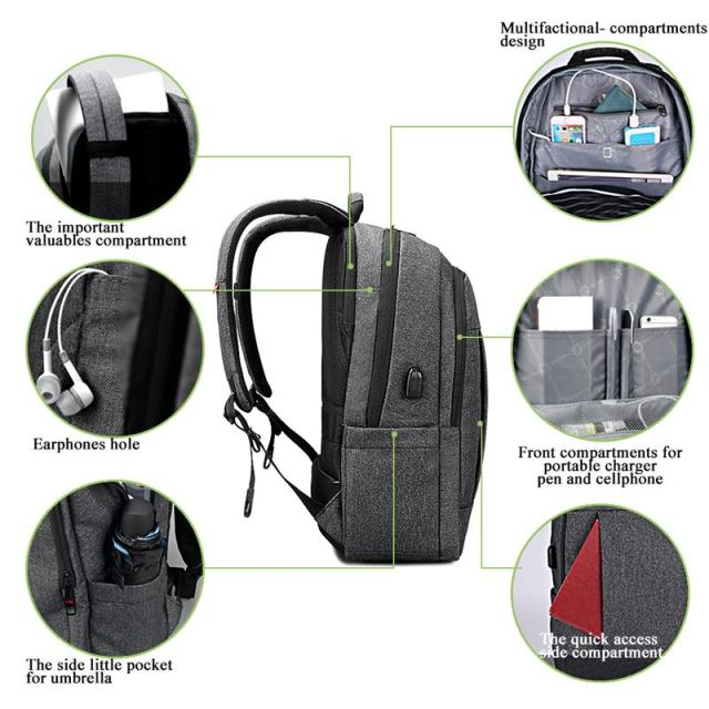 Tigernu Anti thief USB bagpack 15.6inch laptop backpack for women Men school backpack Bag for teens boys Male Travel Mochila 1