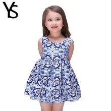 2-11 Years Baby Girls Dress Spring Summer Printed Sleeveless Tank Dress Kids Toddler Little Girls A Line Princes Dress