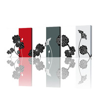 FREE SHIPPING Best Selling Modern New Design Oil Painting of Leaves Print on Canvas(Unframed)50x50cmx3pcs
