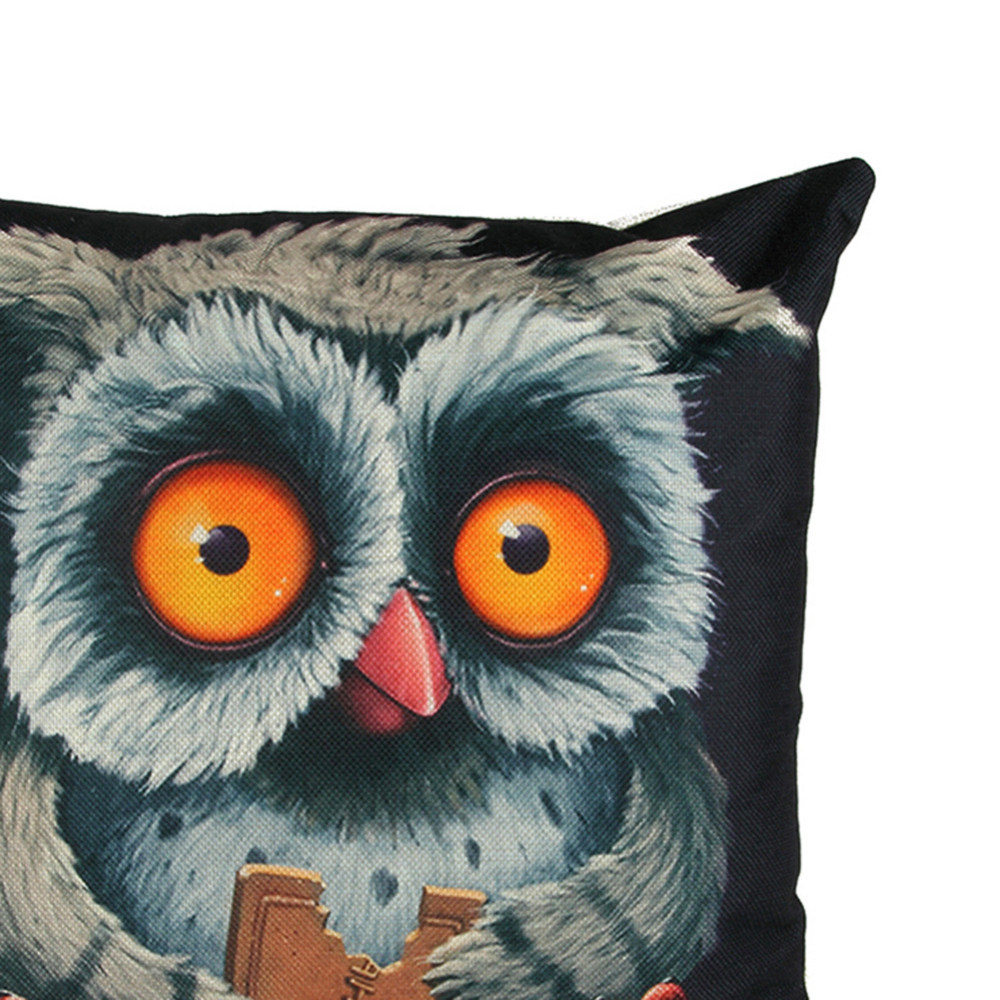 Amazing New Animal Printed Pillow Cover Owl Design Popular Square Cotton Linen Throw Waist Neck Cushion Pillowcases For Home Decoration White Couch Pillows Caraccident5 Cool Chair Designs And Ideas Caraccident5Info