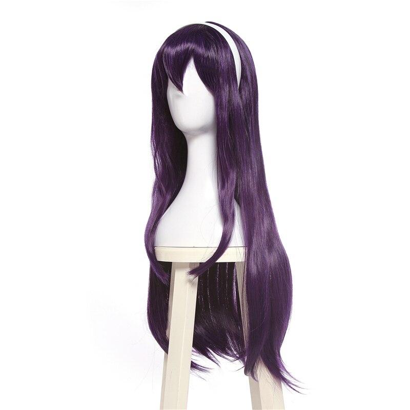 Image 3 - L email wig Saenai Heroine no Sodateka Utaha Kasumigaoka Cosplay Wigs Long Dark Purple Synthetic Hair Perucas Cosplay Wig    -