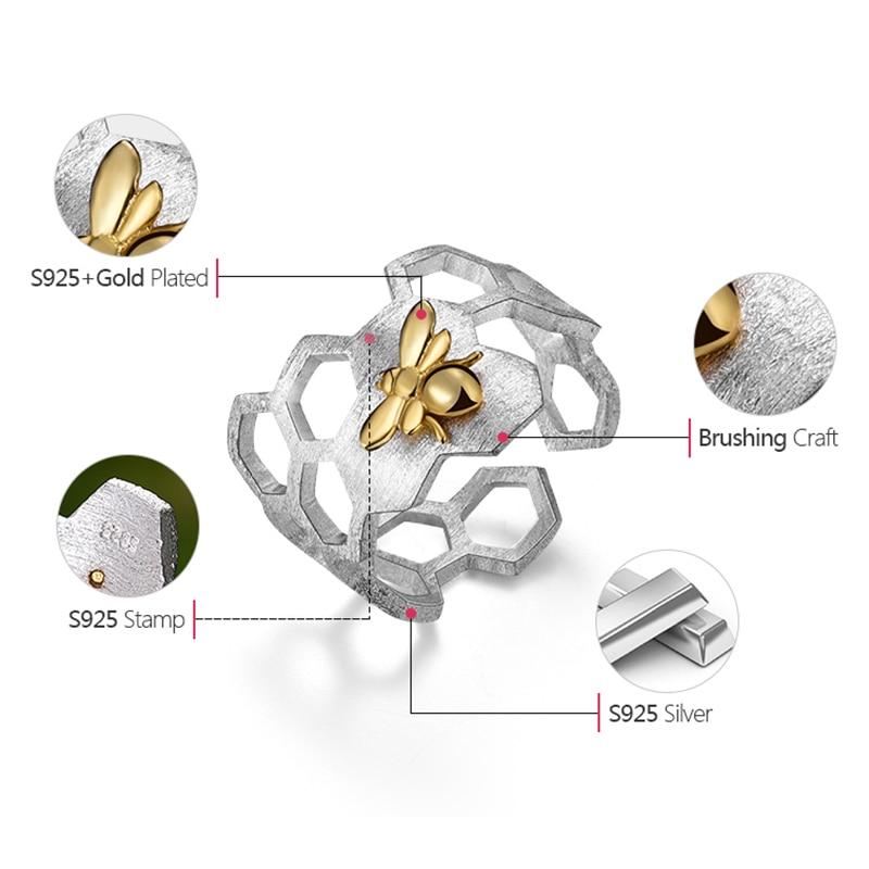 Lotus Fun Echt 925 Sterling Silber Schmuck Natürliche Handgemachte - Edlen Schmuck - Foto 4
