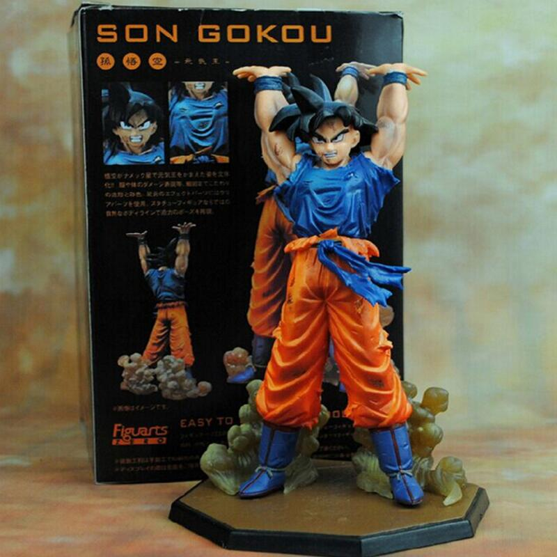 Dragon Ball Z Goku Figures Anime Battle Genki Goku Action Figures Dama Bandai Son Goku PVC Model Children kids toys collectible anime dragon ball super saiyan 3 son gokou pvc action figure collectible model toy 18cm kt2841