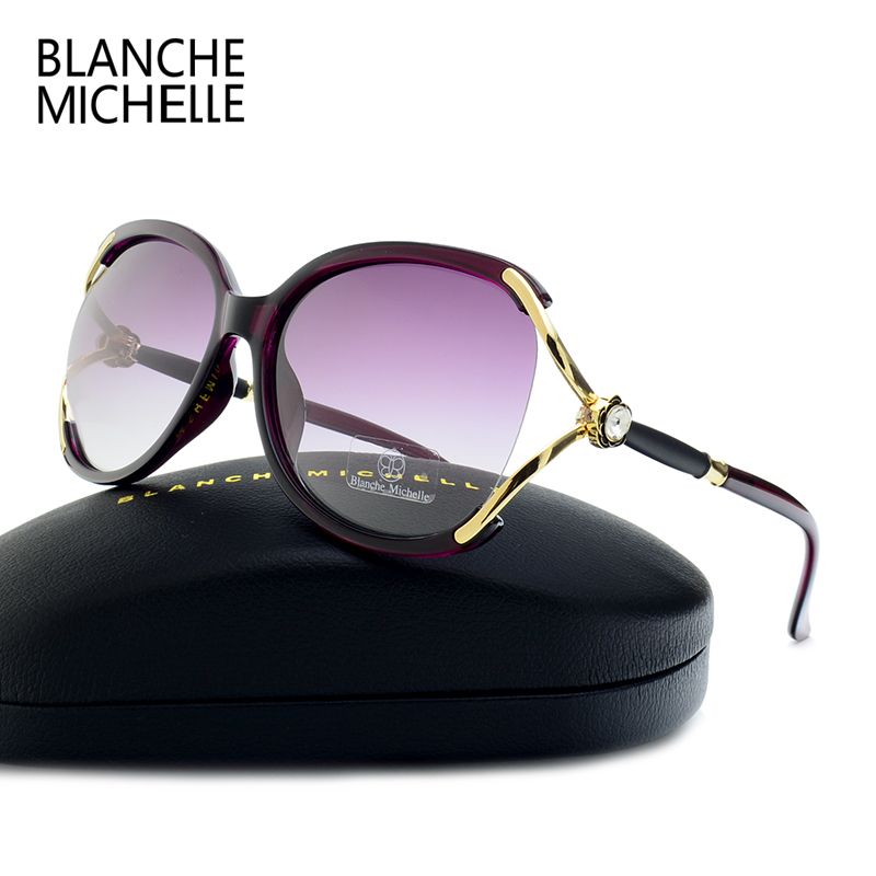 New Fashion Oversized Butterfly Sunglasses Women Polarized UV400 Brand Designer 2017 high quality sun glasses for women With Box 2