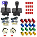 Arcade parts kits Bundle including arcade joystick arcade button for DIY contoller for arcade game,Mame,Raspberry PI