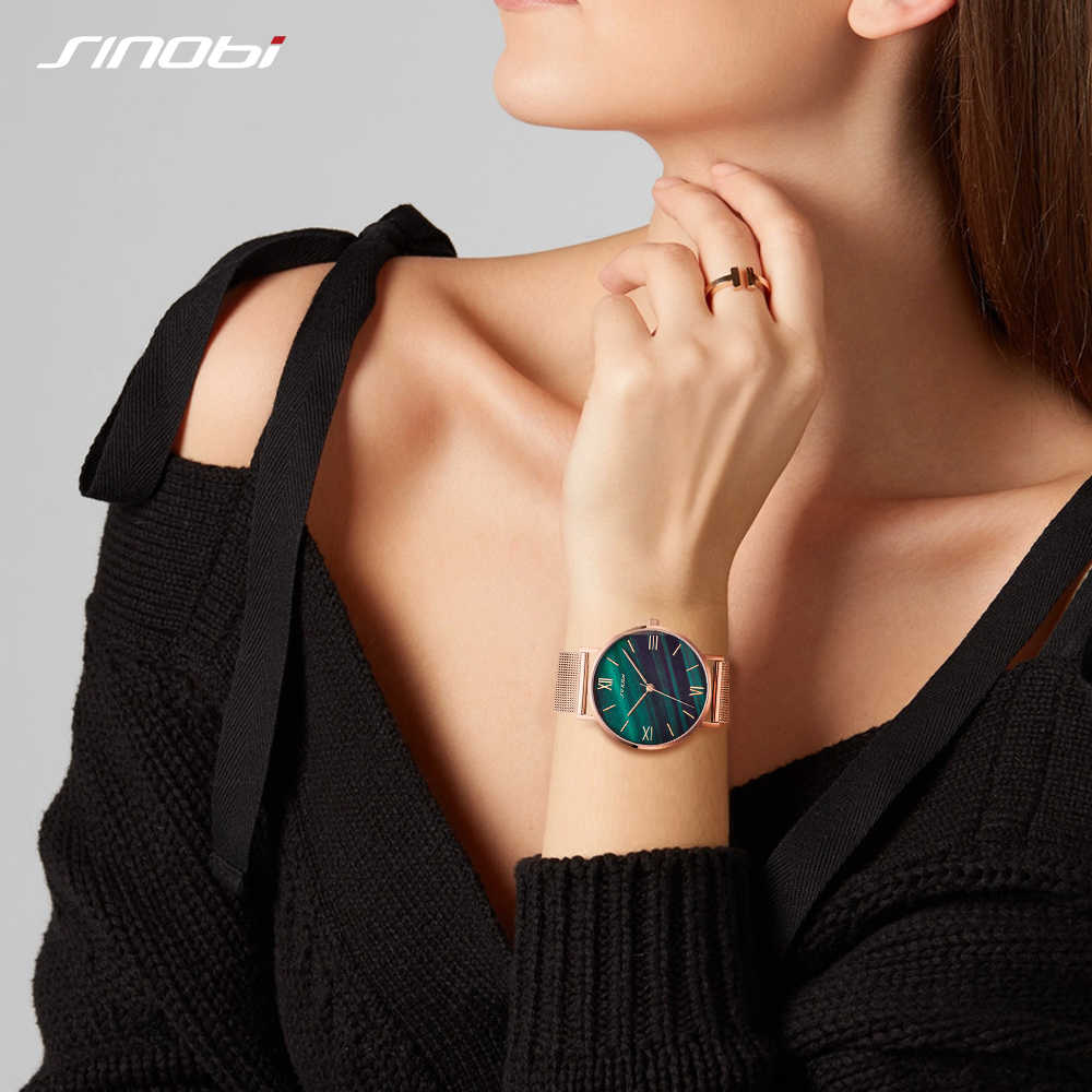 SINOBI אופנה נשים של יהלומי יד שעונים זהב רצועת השעון למעלה יוקרה מותג ילדה קריסטל קוורץ שעון גבירותיי שעונים Dropshipping