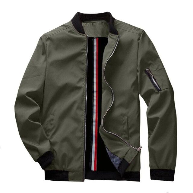 Весенняя Новинка, мужская куртка-бомбер на молнии, мужская повседневная Уличная одежда в стиле хип-хоп, приталенная куртка-пилот, Мужская одежда, размер США до 3XL