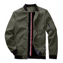 Wiosna nowa męska kurtka z zamkiem Bomber męskie casualowe w stylu streetwear Hip Hop Slim Fit płaszcz pilota mężczyźni odzież rozmiar US do 3XL