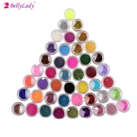 BellyLady Dazzling Transparents Sequins Dust DIY Nail Glitter Decorations Nail Art Designs Gold Acrylic UV Mix