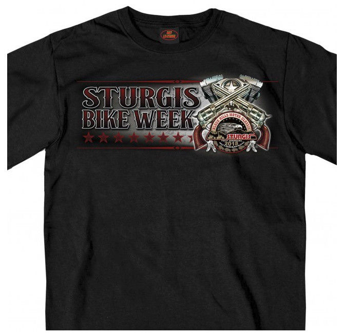 8a5b210c1 US $14.24 5% OFF|2019 New Men'S Sturgis 2019 T Shirt V Twin & Pistols Black  Hills Motorcycle Rally Black T #1704 Tee Shirt-in T-Shirts from Men's ...