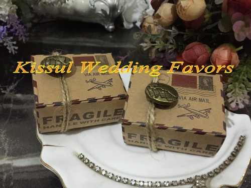 120 Pieceslot Rustic Wedding Candy Box Of Airmail Wedding Favor